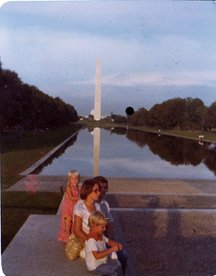 My family with the Washington Monument in the background.