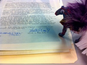 Sparkle Pony and a letter in the Walter J. Ong Collection