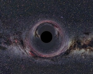 A simulated black hole.