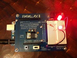 An Arduino with BOE shield